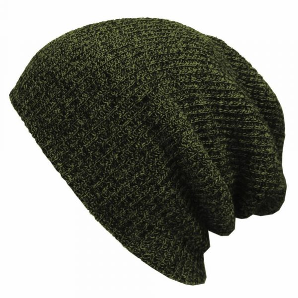 Autumn and winter striped caps Men and women autumn and winter warm wool caps European and American outdoor knit caps